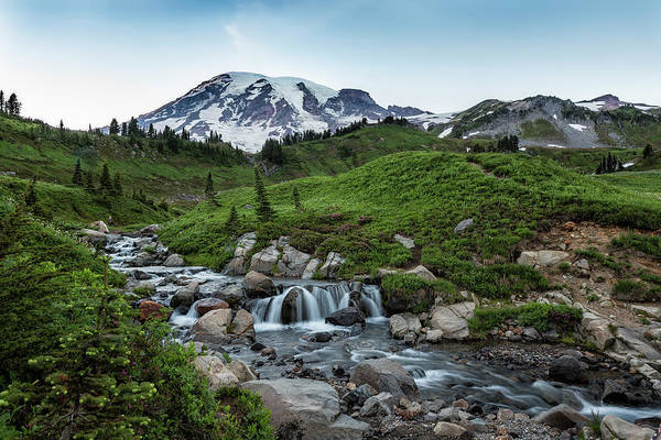 Photograph - Edith Creek And Mount Rainier by Belinda Greb