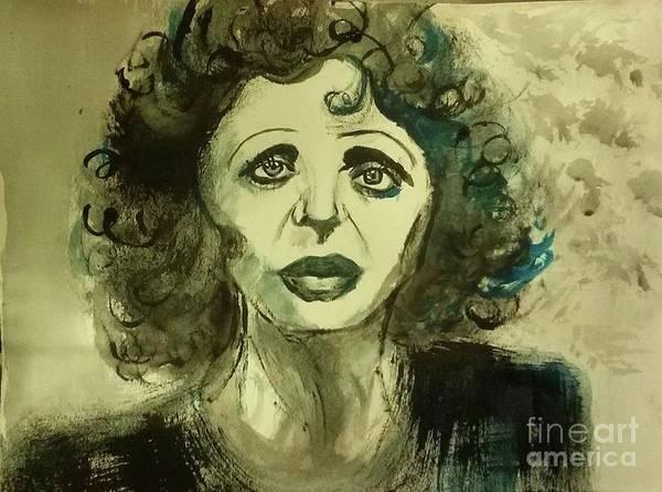 Francaise Painting - Edith Piaf Regrette Rien by Lilia Zehnder