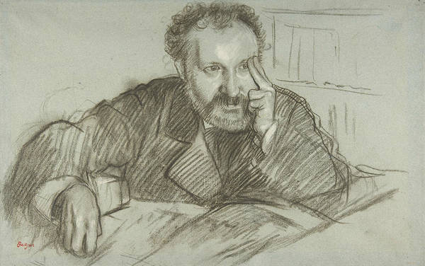 Drawing - Edmond Duranty by Edgar Degas