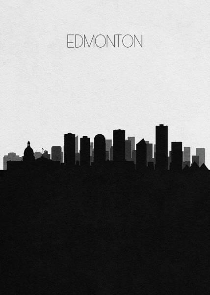 Souvenir Digital Art - Edmonton Cityscape Art by Inspirowl Design