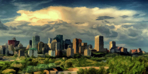 Photograph - Edmonton Skyline  by David Dehner