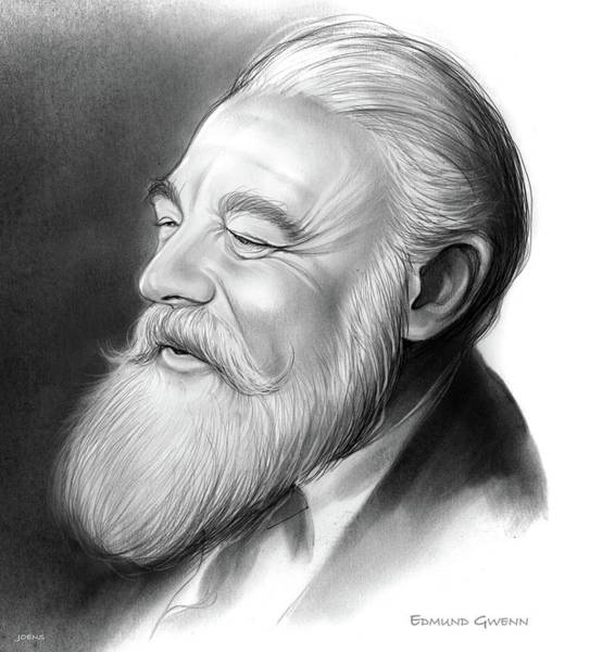 Academy Award Wall Art - Drawing - Edmund Gwenn by Greg Joens