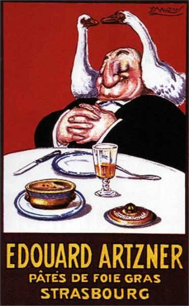 Product Mixed Media - Edouard Artzner Pates De Foie Gras Strasbourg - Vintage Advertising Poster by Studio Grafiikka