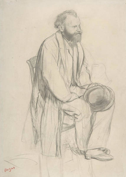 Drawing - Edouard Manet, Seated, Holding His Hat by Edouard Manet