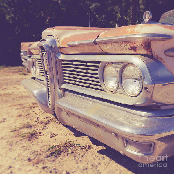 Photograph - Edsel Ranger Vintage Junkyard Car Utah by Edward Fielding