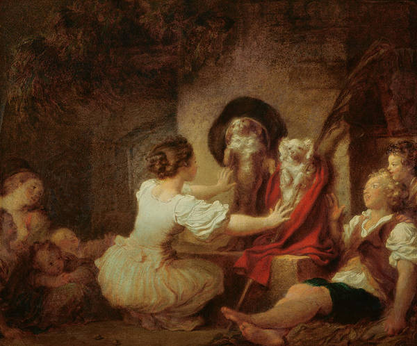 Dressing Painting - Education Is All by Jean-Honore Fragonard