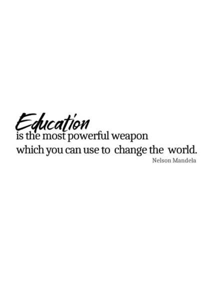 Education #minimalism Art Print