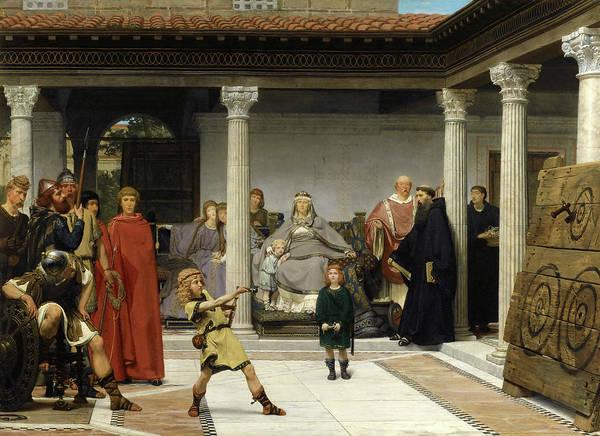 Clovis Painting - Education Of The Children Of Clovis. School Of Vengeance. Training Of Clotilde's Sons by Lawrence Alma-Tadema