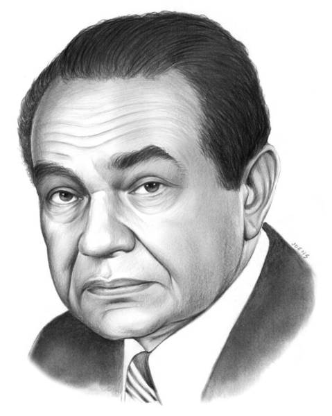 Movie Drawing - Edward G. Robinson by Greg Joens