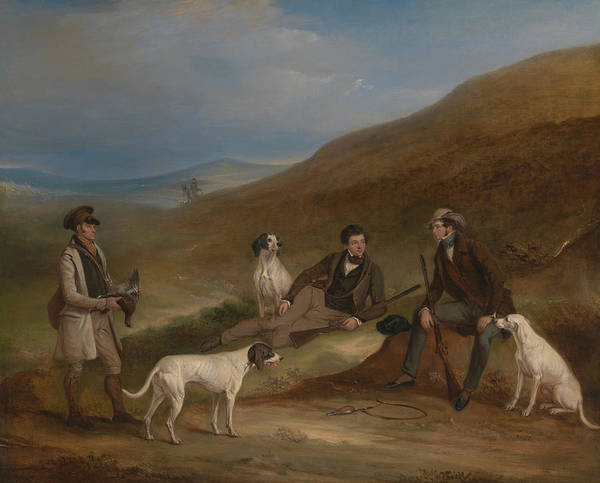 Reynard Wall Art - Painting - Edward Horner Reynard And His Brother George Grouse by John Ferneley