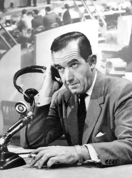 Broadcaster Wall Art - Photograph - Edward R. Murrow  C B S  1956 by Daniel Hagerman