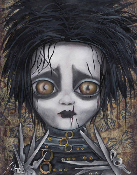 Emo Painting - Edward Scissorhands by Abril Andrade Griffith