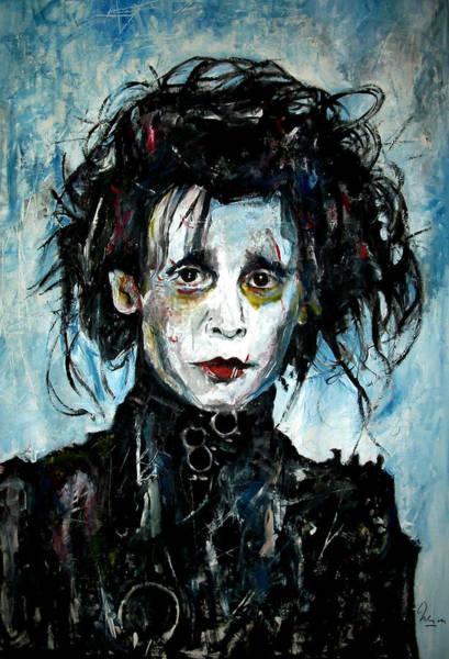 Johnny Depp Painting - Edward Scissorhands - Johnny Depp by Marcelo Neira