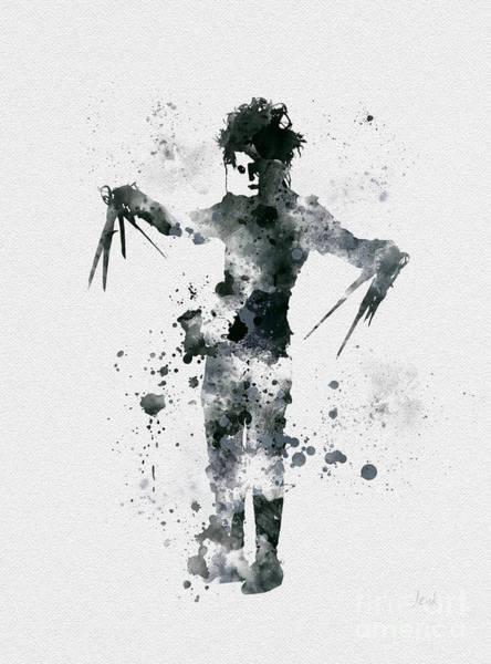 Tim Burton Wall Art - Mixed Media - Edward Scissorhands by My Inspiration