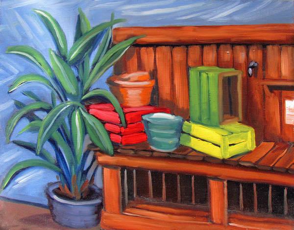 Edwards Nursery Potting Bench Art Print