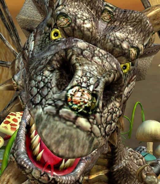 Digital Art - 'edwin' Dragon - Shows His Cute Side ....... by John Quigley