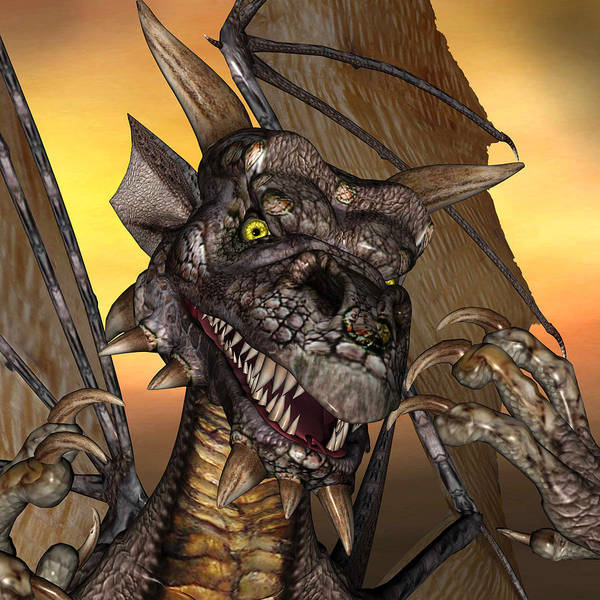'edwin' Dragon - With Claws Like These Who Needs A Tooth Pick  Art Print