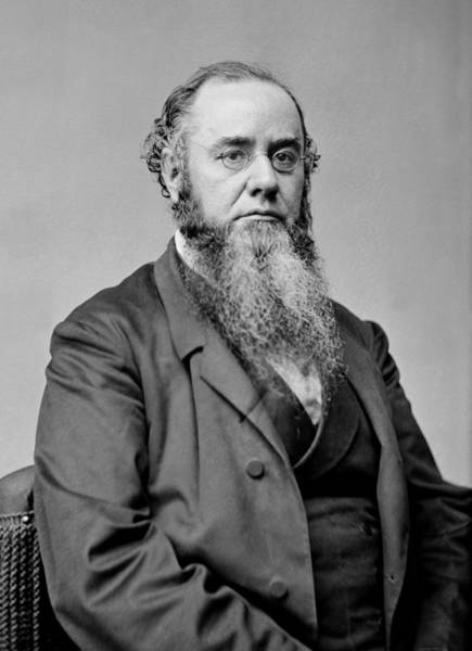 Wall Art - Photograph - Edwin Stanton - 27th Us Secretary Of War by War Is Hell Store