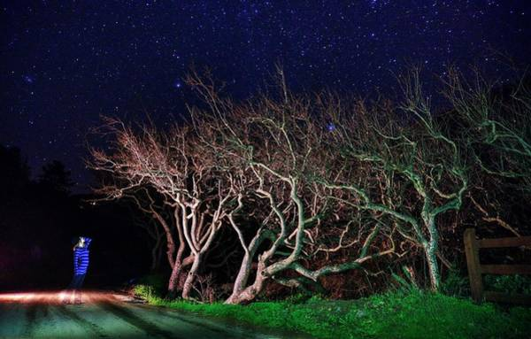 Photograph - Eerie Ghostly Moment Under Millions Of Stars by Quality HDR Photography
