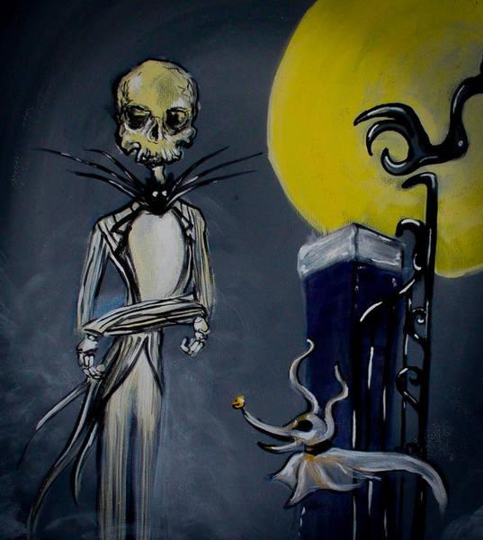 Skellington Painting - Eerie Jack 2 by Marisela Mungia