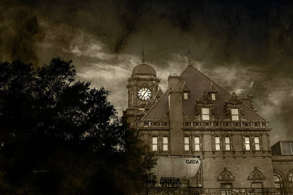 Photograph - Eerie Nights At The Station by Sharon Popek