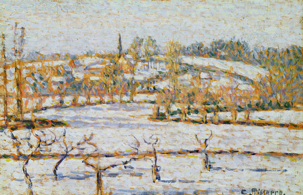 Painting - Effect Of Snow At Eragny by Camille Pissarro