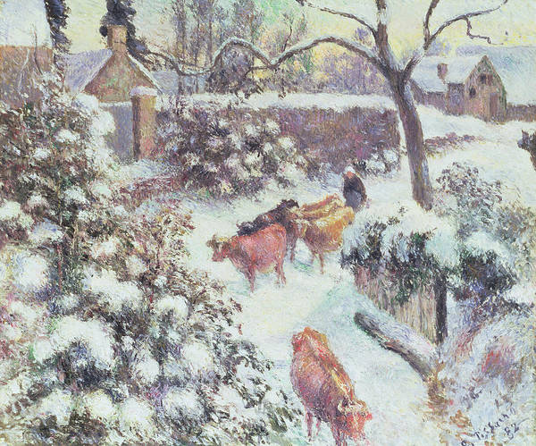 Painting - Effect Of Snow At Montfoucault by Camille Pissarro