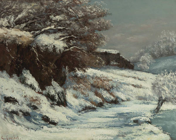 Painting - Effect Of Snow by Gustave Courbet