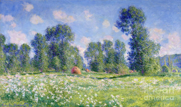 Field Of Flowers Wall Art - Painting - Effect Of Spring At Giverny by Claude Monet