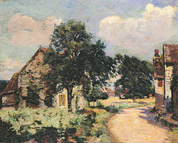 Hamlet Painting - Effect Of The Sun by Jean Baptiste Armand Guillaumin