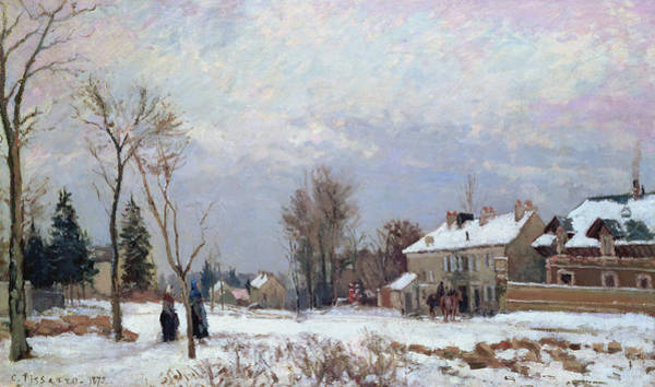 Camille Wall Art - Painting - Effects Of Snow by Camille Pissarro