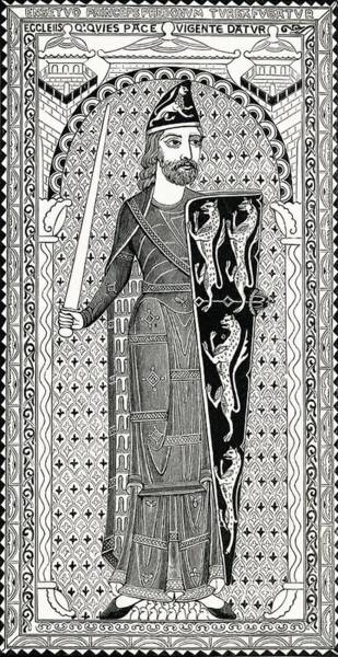 Wall Art - Drawing - Effigy Of Geoffry Plantagenet, From His by Vintage Design Pics