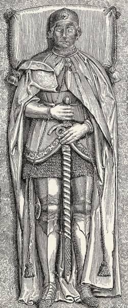 Castilla Drawing - Effigy Of  Lvaro De Luna, Born Circa by Vintage Design Pics