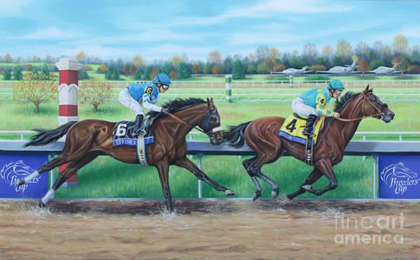 Painting - Effinex Verses American Pharoah by Tish Wynne