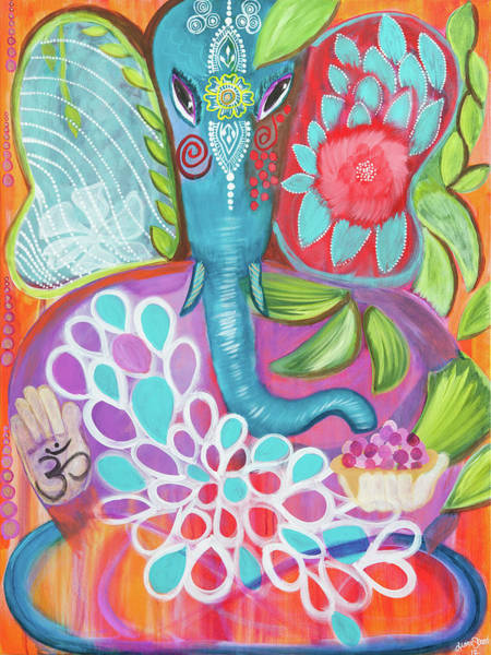 Crone Wall Art - Painting - Effortless Ganesha by Liana Shanti