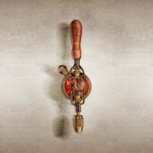 Drill Bits Wall Art - Photograph - Egg Beater Hand Drill by YoPedro