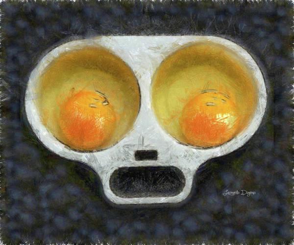Protein Painting - Egg Face by Leonardo Digenio