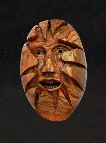 Mixed Media - Egg In The Stars by Eric Kempson