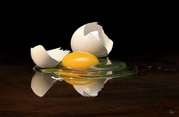 Photograph - Egg On Glass by Endre Balogh