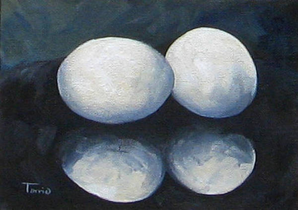Wall Art - Painting - Egg Reflections by Torrie Smiley