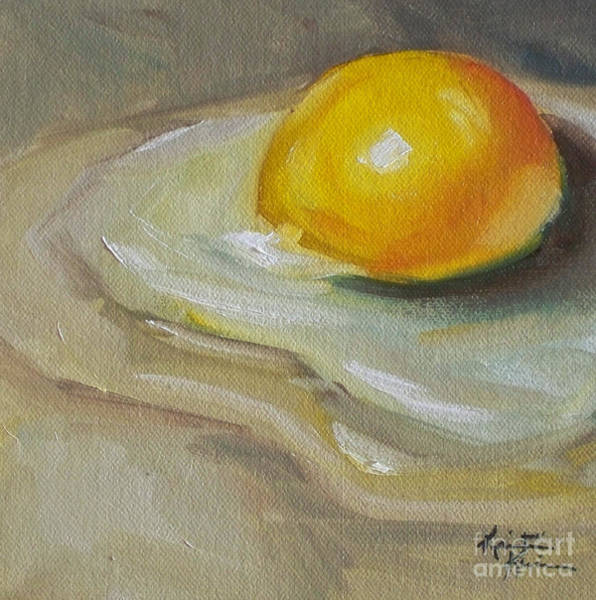 Protein Painting - Egg Yolk No. 1 by Kristine Kainer