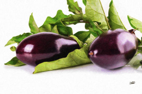 Painting - Eggplant - Veg1659784 by Dean Wittle