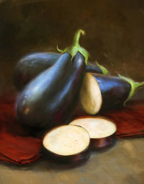 Still-life Painting - Eggplants by Robert Papp