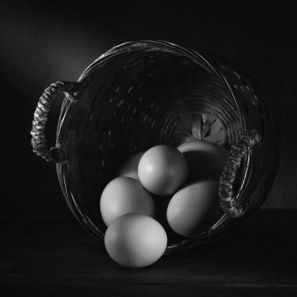 Wall Art - Photograph - Eggs In Basket by Ian Barber