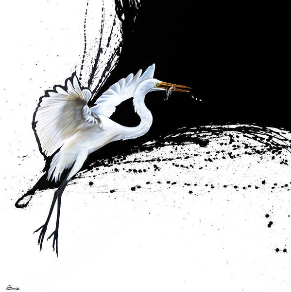 Painting - Egret 2 by Sandi Baker