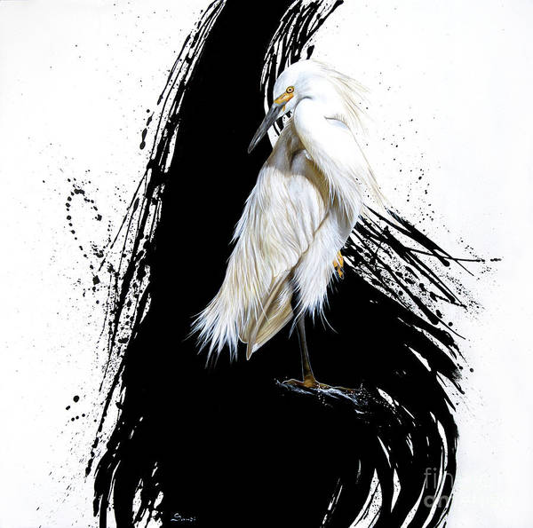Painting - Egret by Sandi Baker