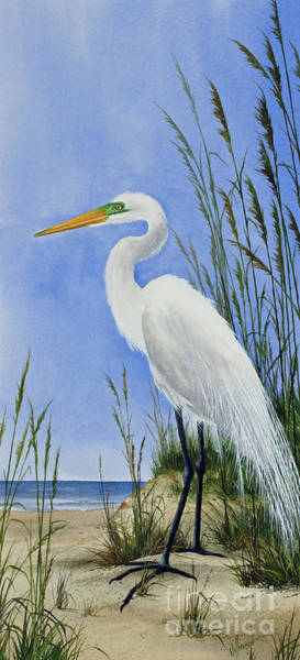 Wall Art - Painting - Egrets Shore by James Williamson