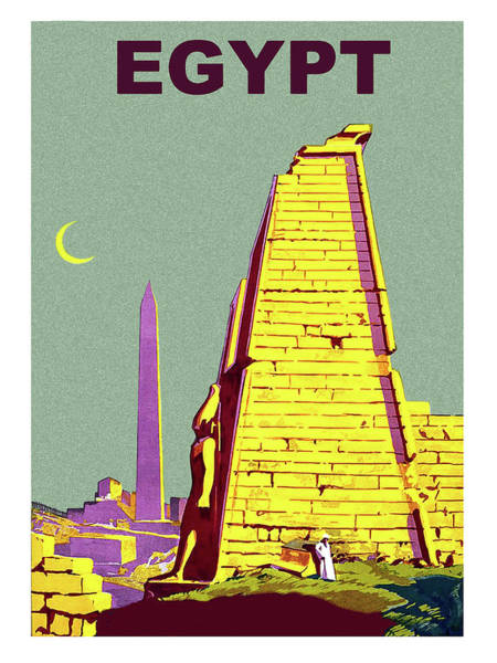 Ancient Egypt Painting - Egypt, Ancient Ruins, Vintage Travel Poster by Long Shot