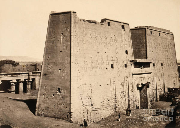 Photograph - Egypt, Edfu, C1860.  by Granger
