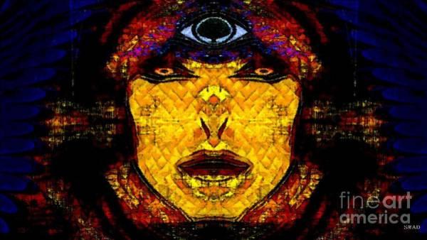 Digital Art - Egypt Goddess  Raet Aka Raettawy by Swedish Attitude Design